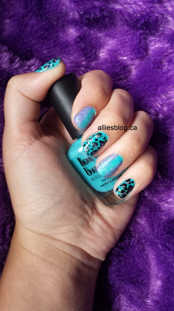 Turquoise Leopard with a dash of glitter