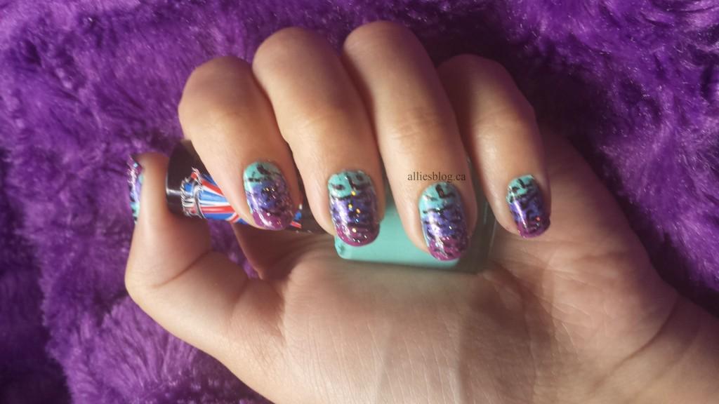#31DC2013 Violet Nails