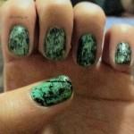 #31DC2013 Green nails