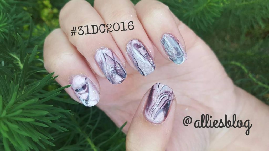 31 Day Challenge catch up day 19 watermarble nails! Tutorialhellip