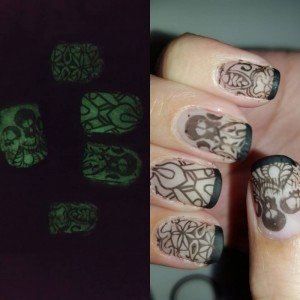 Glow in the dark #negativespacenails for the Halloween nail art challenge day 29 #bootifulnails. Love how these turned out! Figured out a trick to getting great glow in the dark pictures youtube tutorial up tomorrow! #nails #love #naildesigns #nailartsupplies #nailartproducts #nailartstamping #stampingnails @bornprettystore @bpsfashion @sinfulcolors_official #halloween #halloweennails #blogger #ciate @essence_cosmetics #nailartcommunity #nailartclub #nailsoftheday #nailartdesign #nailswag #nailstampingplates #nailpolish #notd #nailartchallenge #nailsofinstagram #nailstagram #nails4yummies #newstuff #nails #mattenails #glowinthedark