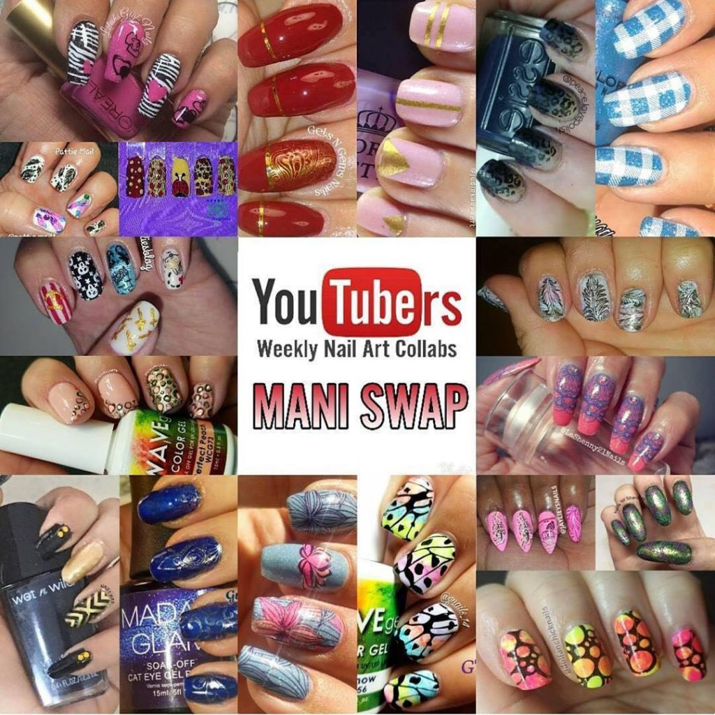 Todays youtubers nail art stamping weekly collabs mani swap! Thankshellip