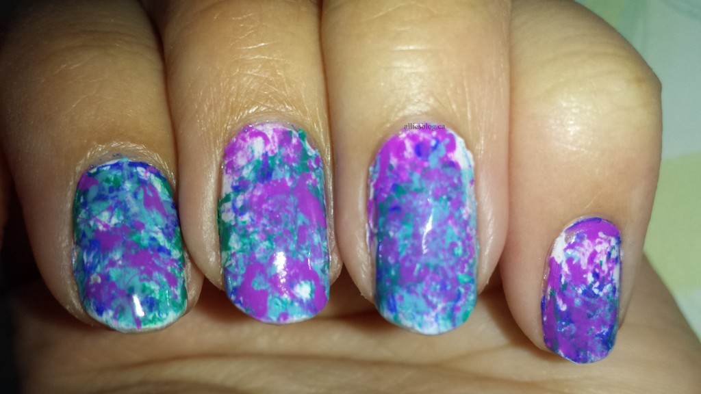 Splatter nails/April 10 2014/