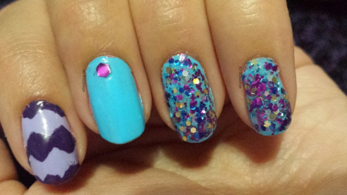 purple chevron nails|aug 11 2014