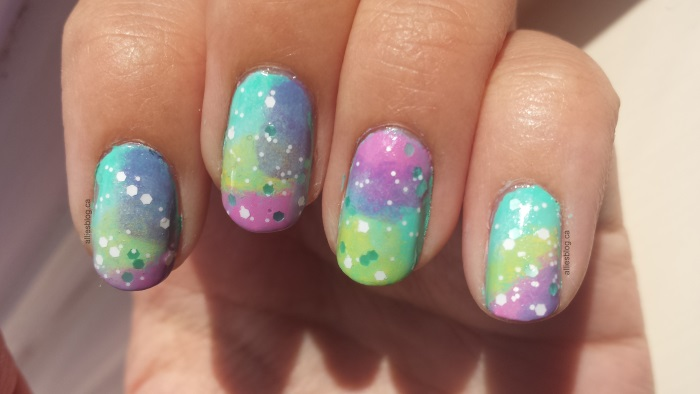 mint galaxy nails|july 25 2014