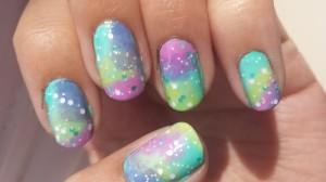 mint galaxy nails|july 25 2014