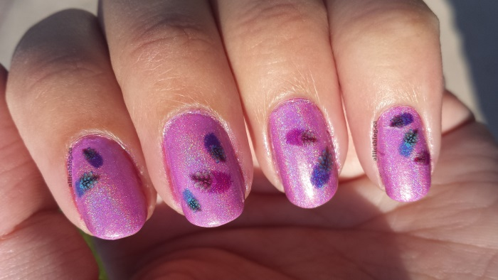 chloe & bella|holographic nails|july 28 2014 |water decals| bornprettystore