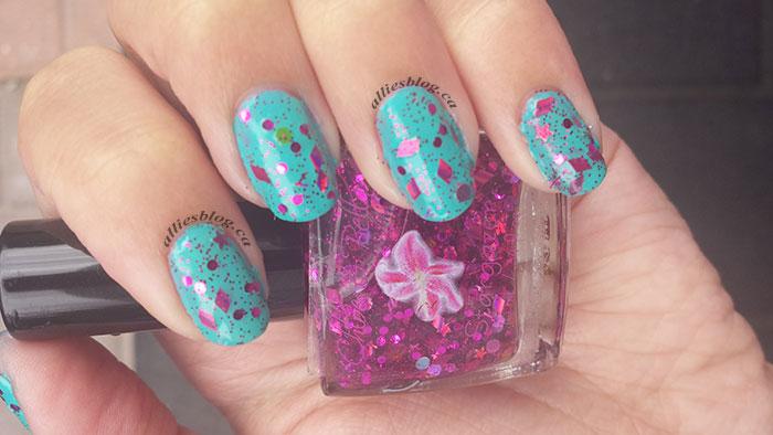 Chloe&bella nail polish|stargazer|glitter polish|july 30 2014