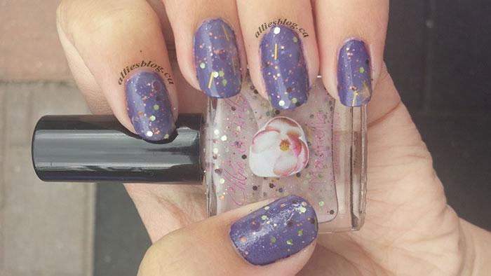 Chloe&bella nail polish|magnoilia|glitter polish|july 30 2014