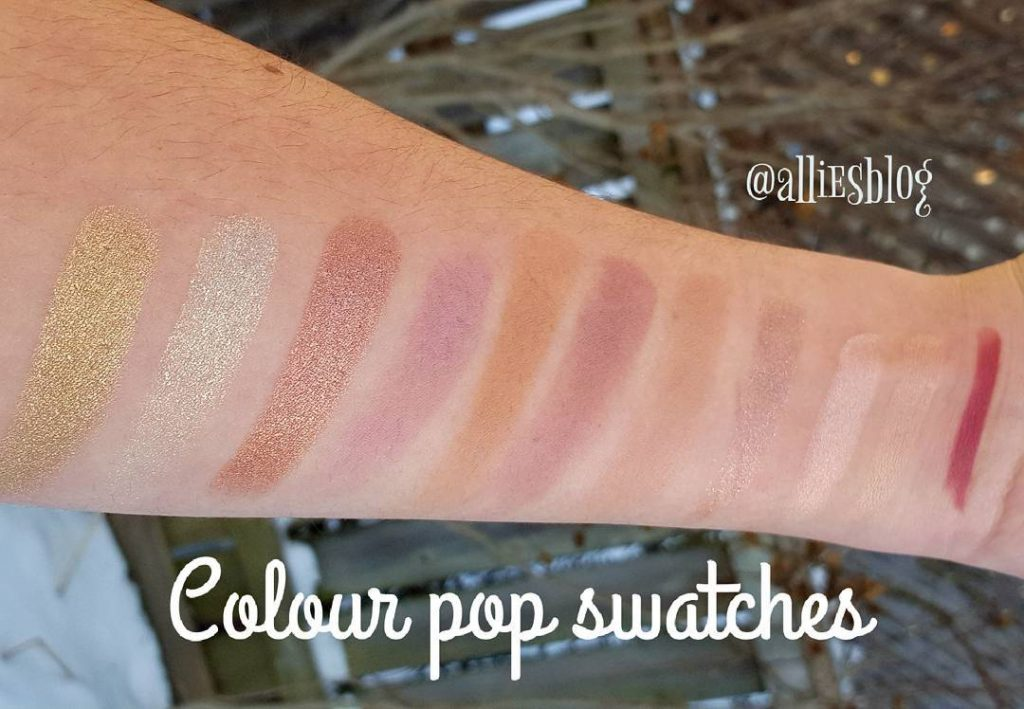 Colour pop swatches from yesterday video! link to the YouTubehellip