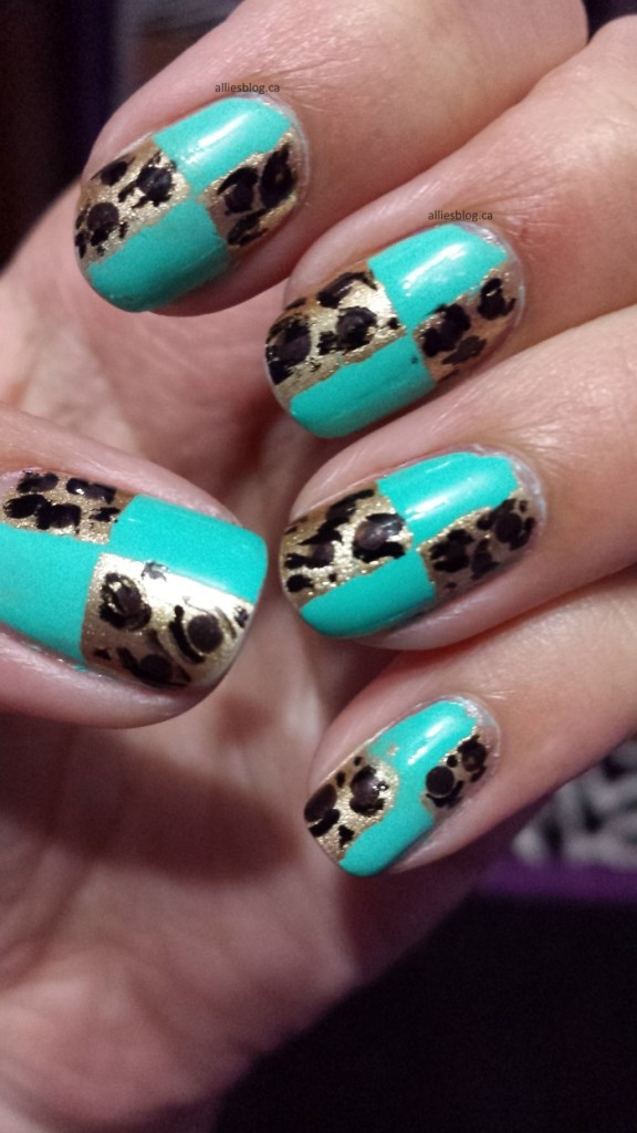 checkered leopard nails|aug 15 2014