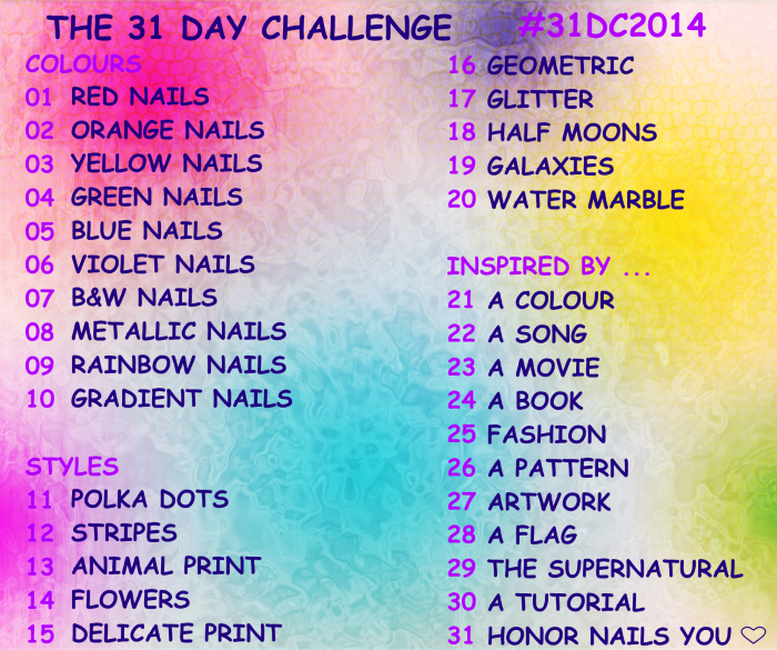 #31dc2014|the 31 day challenge