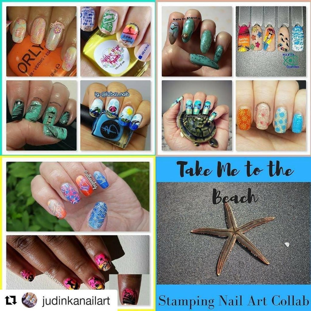 Todays take me to the beach collab hosted by dolfanchicknailshellip