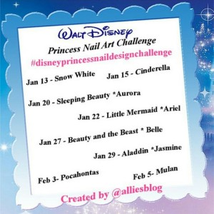 Are you joining in the disneyprincessnaildesignchallenge? Full details at alliesblog.ca! nailartaddict nails nailartblogger nailart manicure blogger nailpolish notd nailartchallenge disneyprincessnaildesignchallenge disneyprincessnailart disneyprincess nailsofinstagram nailstagram nails4yummies