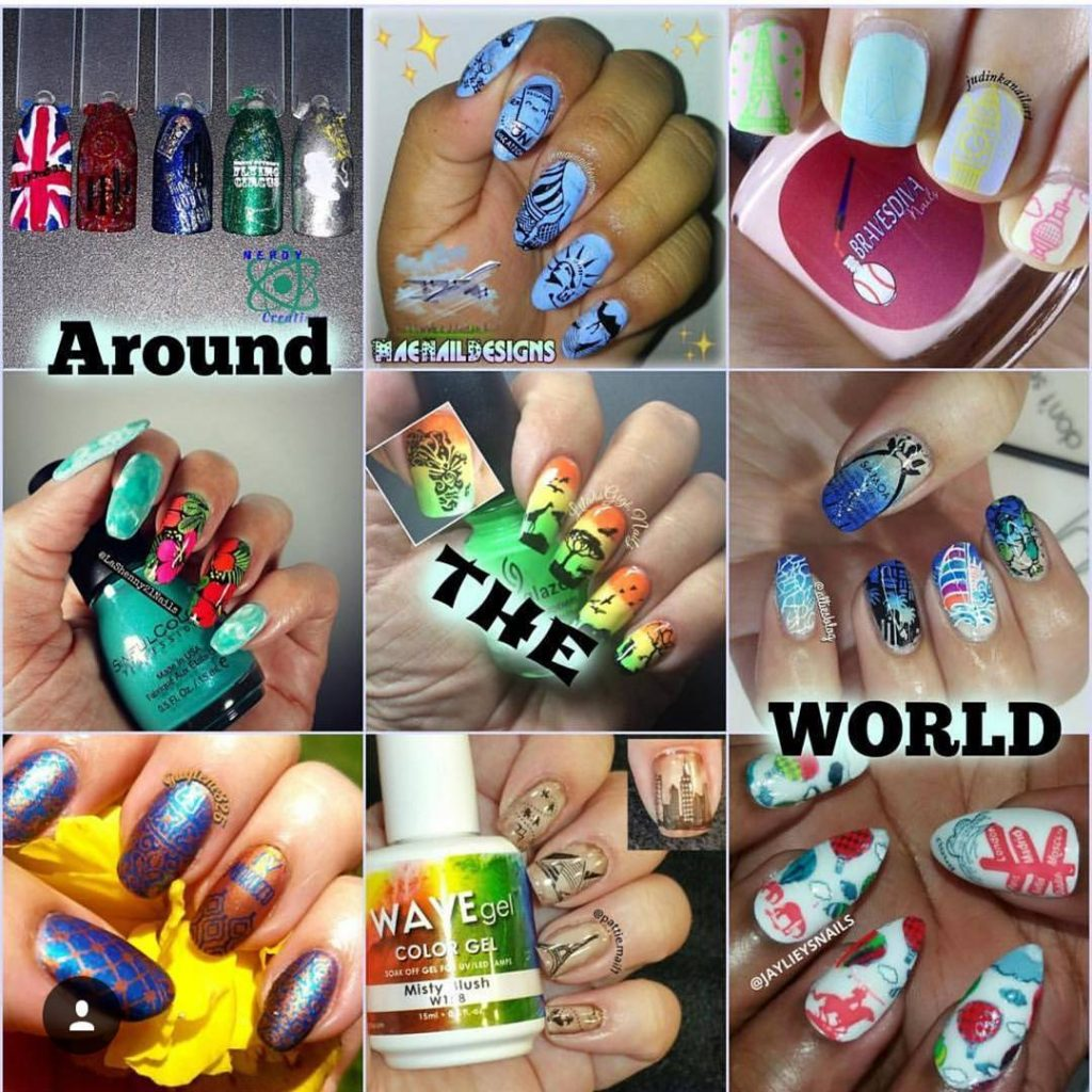 Todays around the world youtubers nail art stamping weekly collabs!hellip