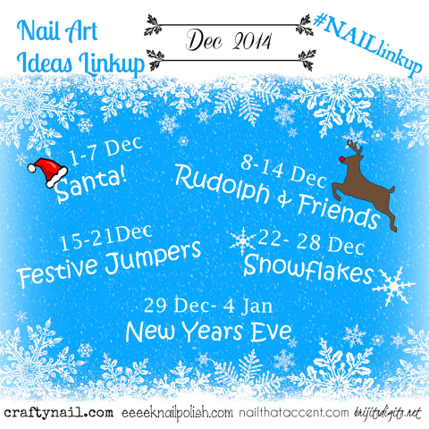december 2014 montly challenge |craftynails