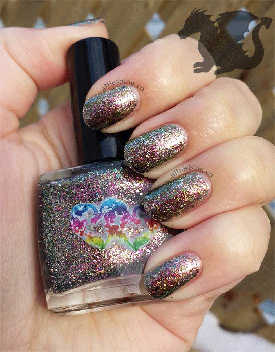 chloe and bella dragon skin | dragon's breath | nail polish review