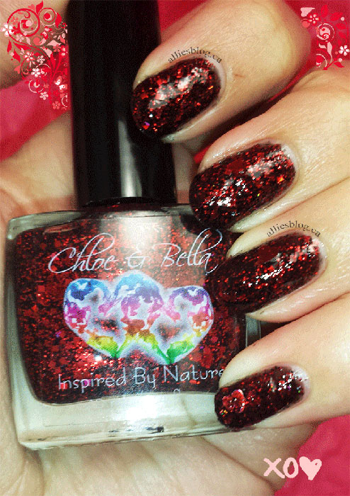 chloe & bella |valentines day nail polish |nail polish swatches | desire | devotion