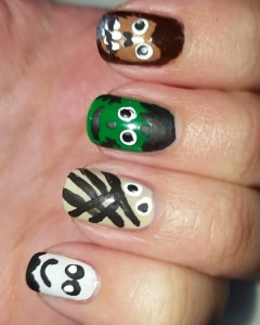 My monster nails from yesterday forgot to post for the Halloween nail art challenge #bootifulnails #nails #nailartblogger #nailart #manicure #blogger #nailpolish #notd #nailartchallenge #nailsofinstagram #nailstagram #nails4yummies #newstuff #nails #love #naildesigns #nailartsupplies #nailartproducts #handpainted #nailartcommunity #nailartclub #manicuremonday #eyeslipsface @essence_cosmetics @zoyanailpolish #pureicenailpolish