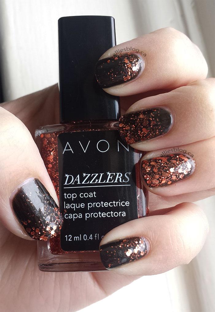 avon dazzlers | review| nail polish | glitter polish | alliesblog.ca