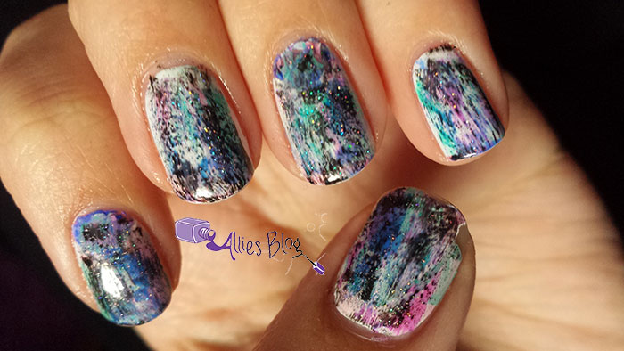 distressed nails | chalkboard nails | nail polish | inspired by