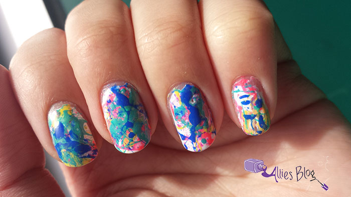 splatter nails| easter nails | inspired by artwork | tutorial