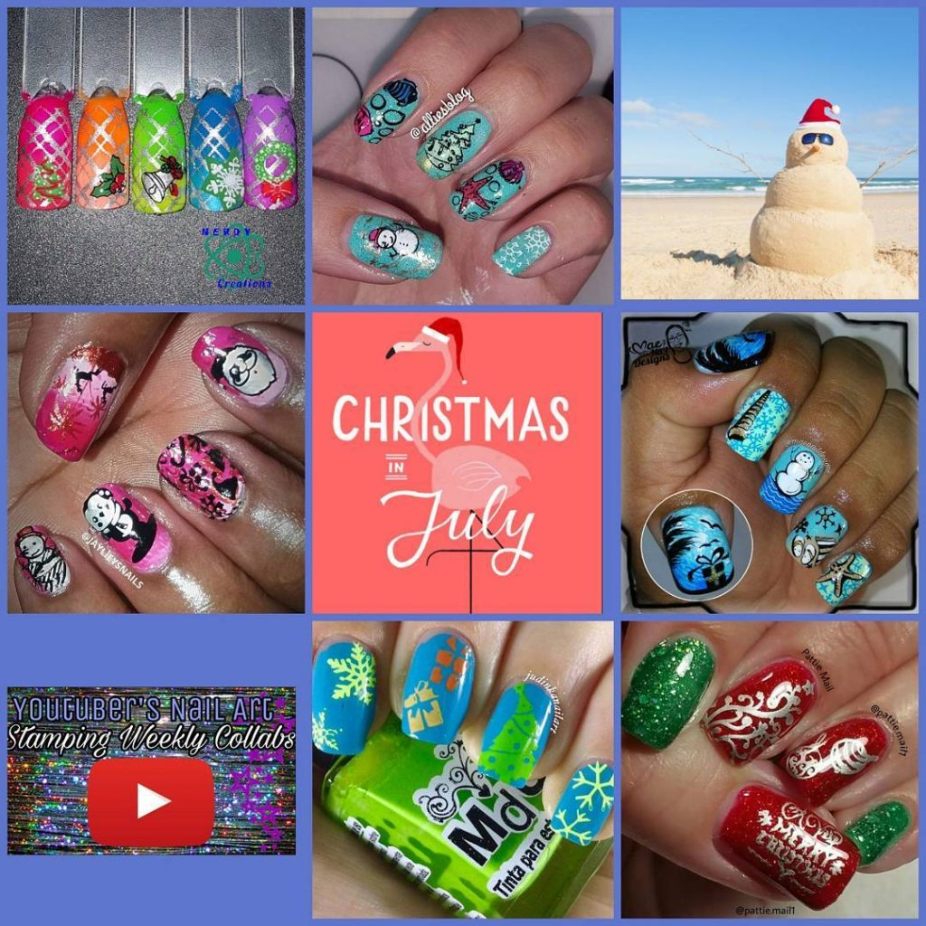 This weeks youtubers nail art stamping weekly collabs the themehellip