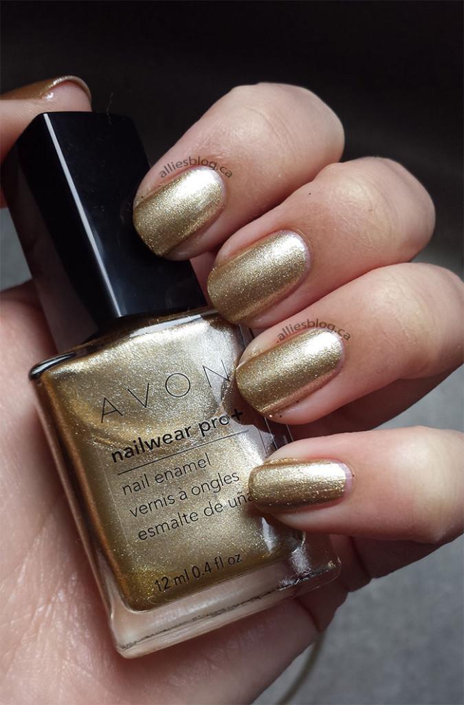 avon nail wear pro + nail polish | golden vision