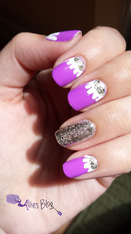 purple spring flower nails | monthly #naillinkup | craftynail