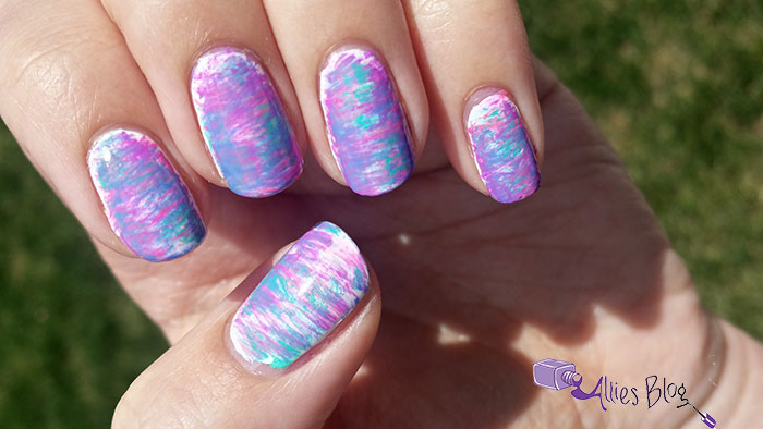 fan brush nails | alliesblog|china glaze