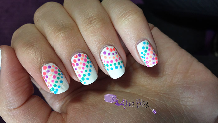 1980's nails | montlhly #naillinkup | neon nails | rainbow nails