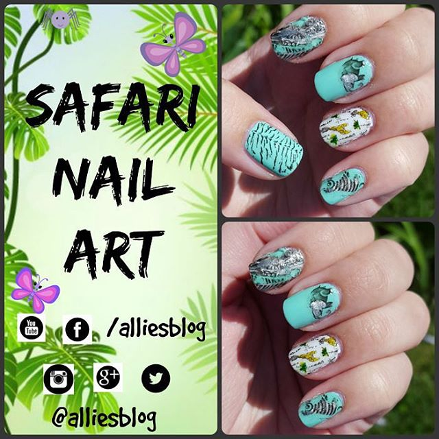 Safari nails! There's even a YouTube tutorial on my channel! Check it out :) in my bio  #fashionfriday #nailpolishswatches #ilovenailPolish #iwanttoswatchforyou #nailsofinstagram #nailstagram #nails4yummies #nailpolish #notd #nailartchallenge #safarinails #stampingplates #stampingnails @bornprettystore #nailartproducts #nailpolish #indiepolish #nailartblogger