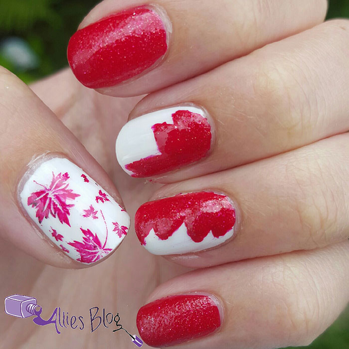canada day nails | red and white | happy canada day
