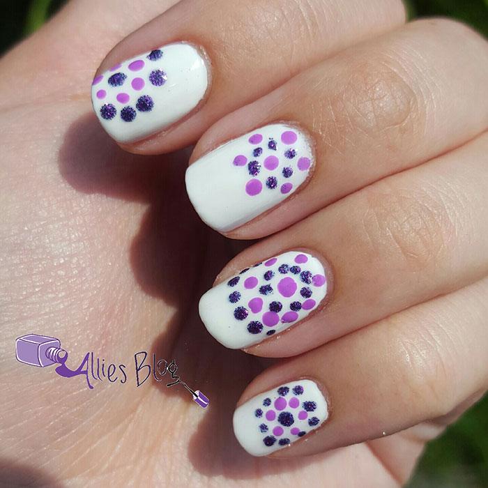 #omd3nails | july omd3nails | nail art challenge |polka dot nails