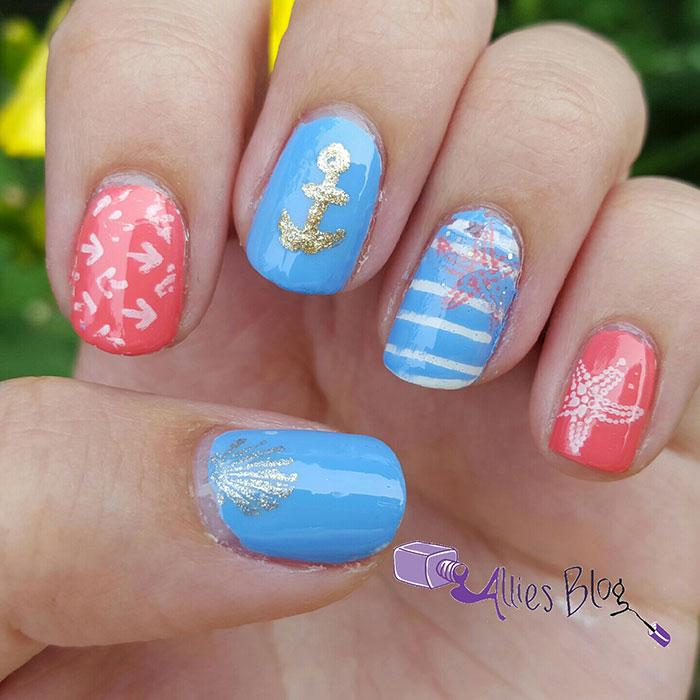 nautical nail art tutorial using born pretty store stamping plates