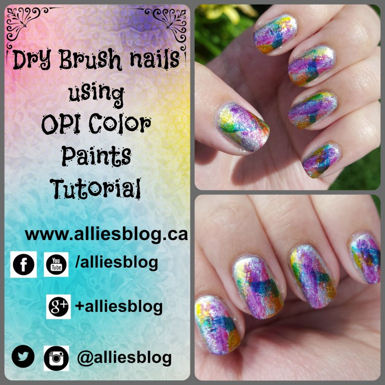 opi color paints | dry brush nails | nail art tutorial | youtube