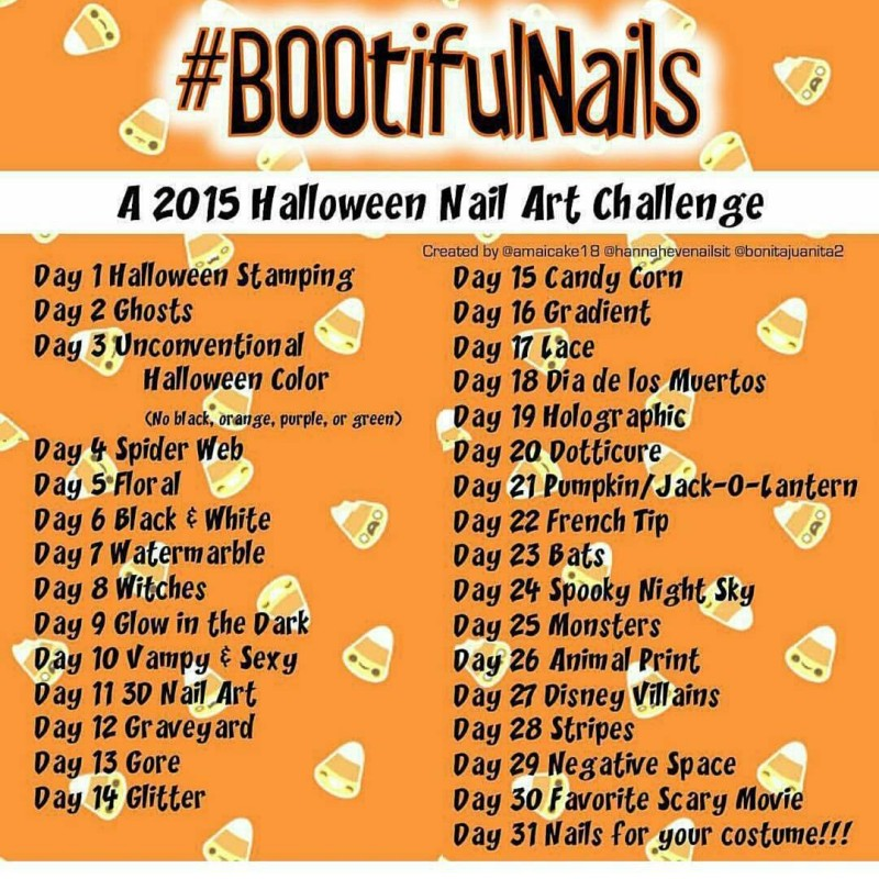 halloween nail art challenge