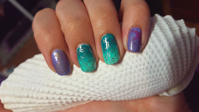 31 day challenge | #31DC2015 | the little mermaid nails | under the sea | inspired by a song