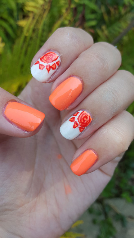 31 day challenge | #31dc2015 | day 2 orange nails