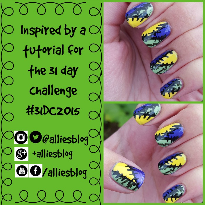 inspired by a tutorial | 31 day challenge | #31dc2015  | patch work nails | nailasaurus  tutorial