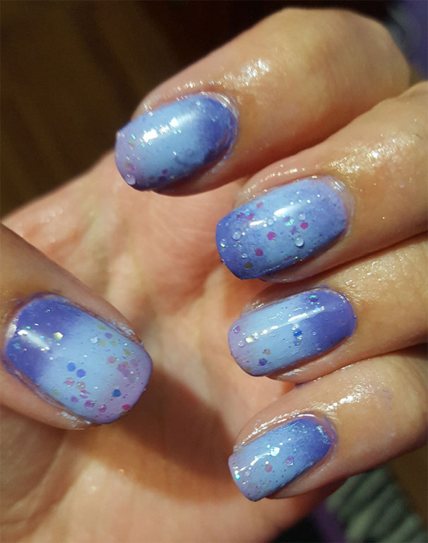 31 day challenge | gradient nails| #31dc2015 | color changing nail polish