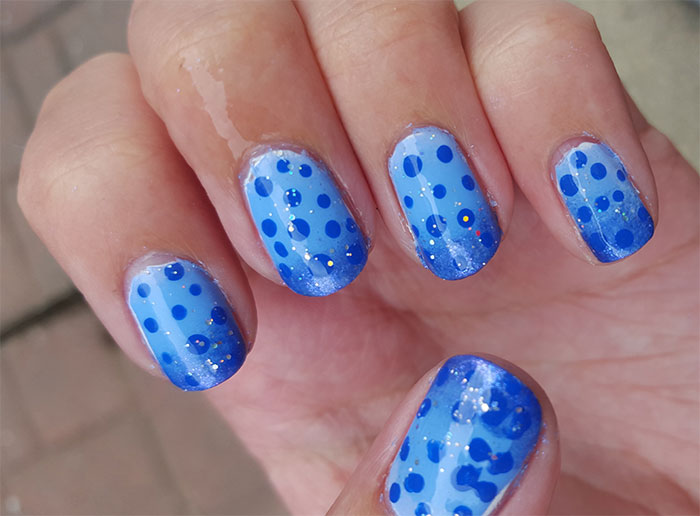 polka dot nails |gradient nails| 31 day challenge |#31dc2015