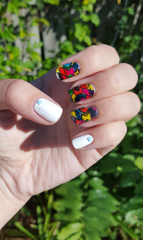 geometric nails | 31 day challenge | #31dc2015