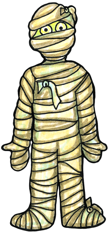 cartoon-mummy