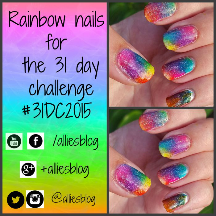 rainbow nails | 31 day challenge | #31dc2015 | opi color paints