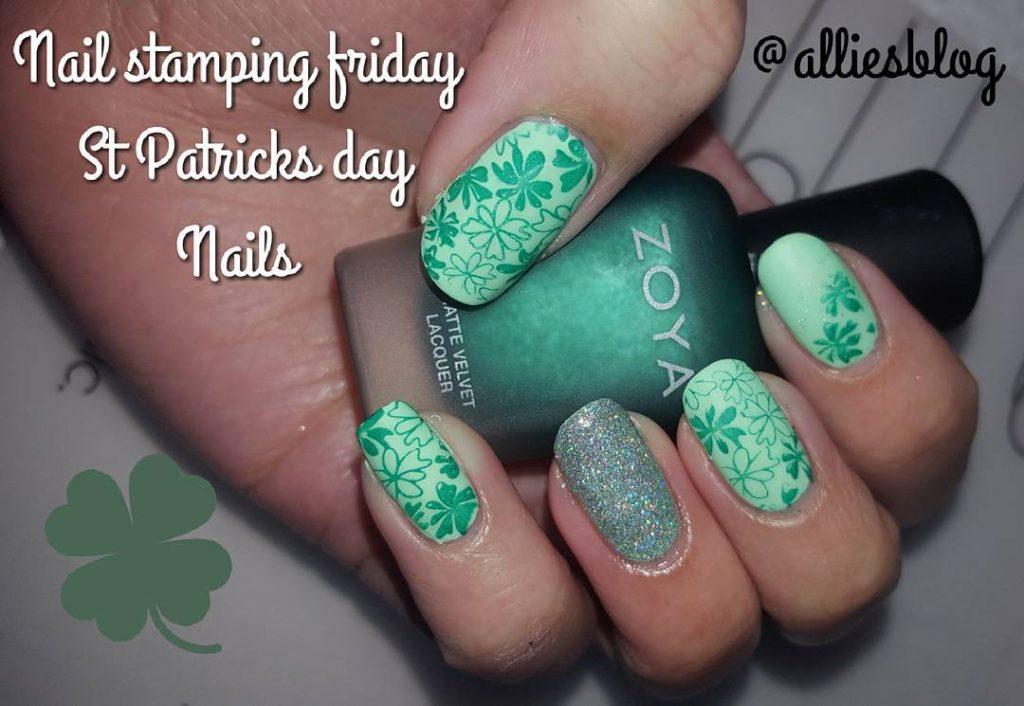 Todays st Patricks mani! Happy st Patricks day! nails nailartbloggerhellip