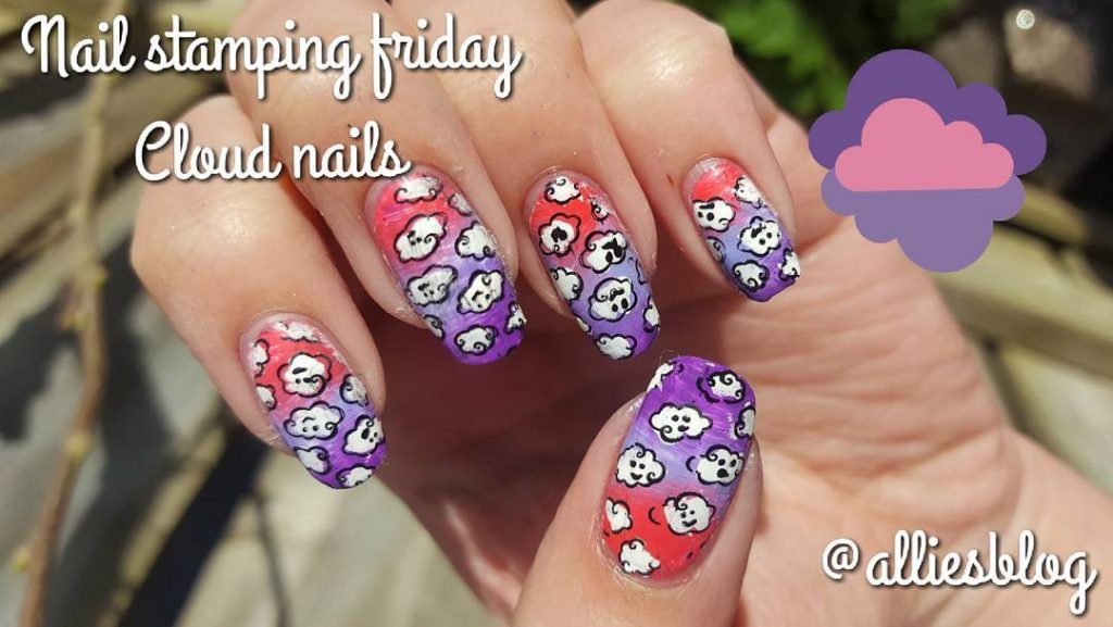 Todays nail stamping friday! link to the tutorial in myhellip