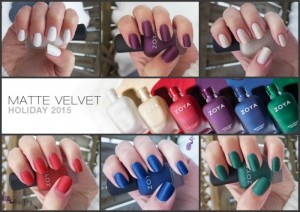 zoya matte velvet winter holiday collection 2015 | nail polish canada