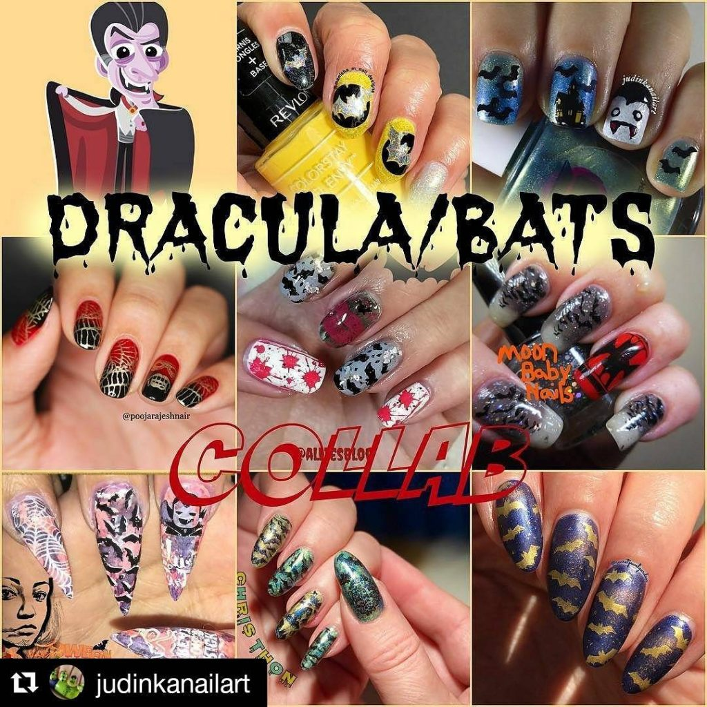 Happy halloween! Thamks judinkanailart for hosting tbjd collab! Repost judinkanailarthellip